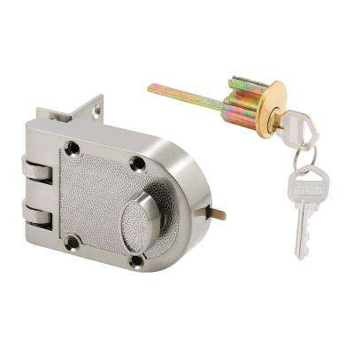 Single Cylinder Satin Nickel Jimmy-Resistant Deadbolt