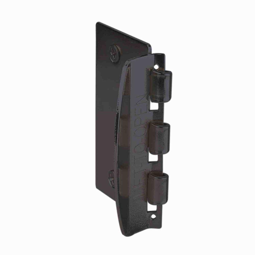 Bathroom stall door latch - Bronze Plated Flip Action Door Lock