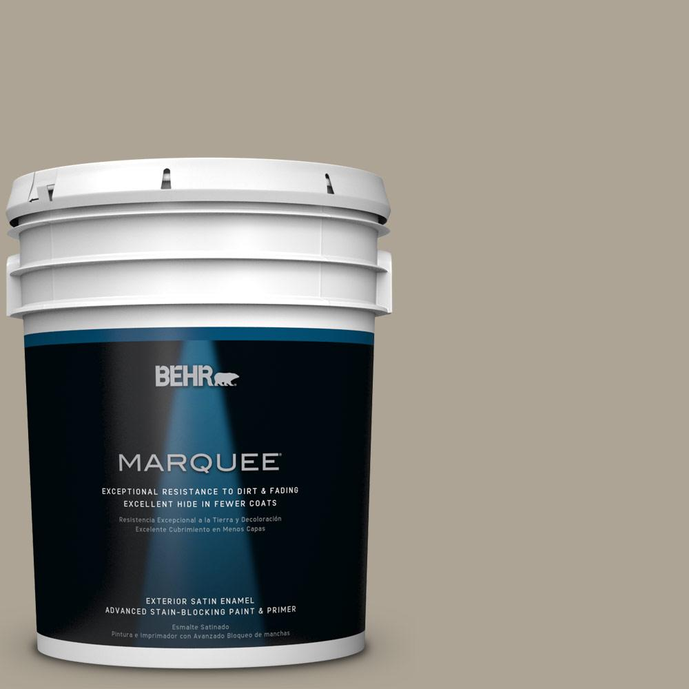 BEHR MARQUEE 5-gal. #HDC-NT-14 Smoked Tan Satin Enamel Exterior Paint