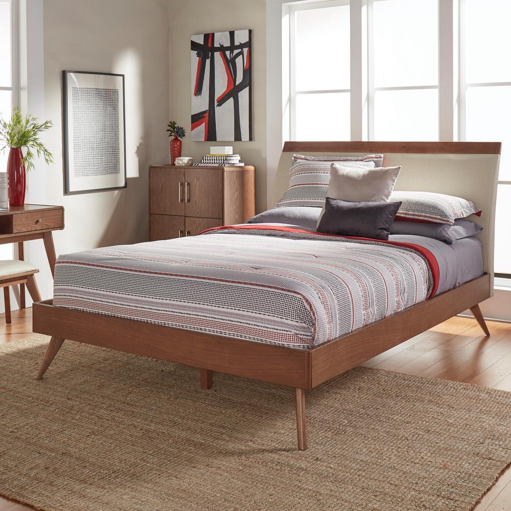 homesullivan holbrook chestnut queen platform bed401915n