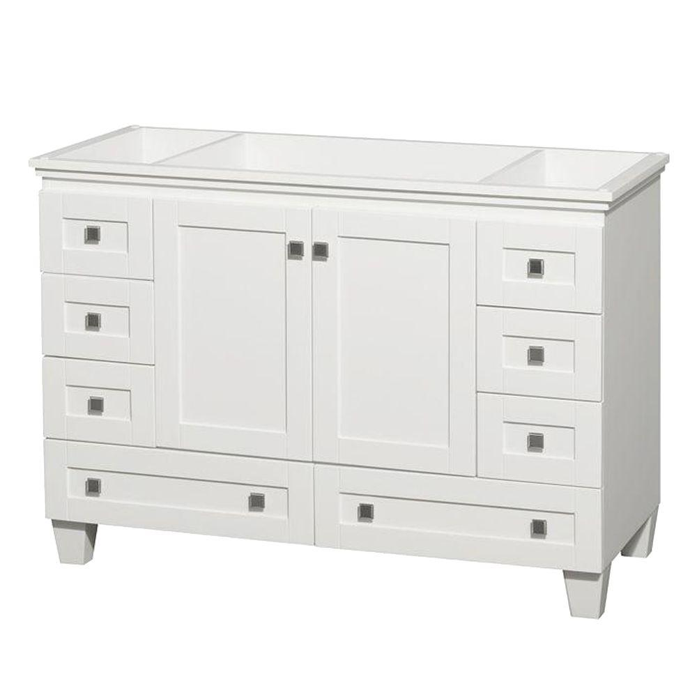 Acclaim 48 in. Vanity Cabinet Only in White
