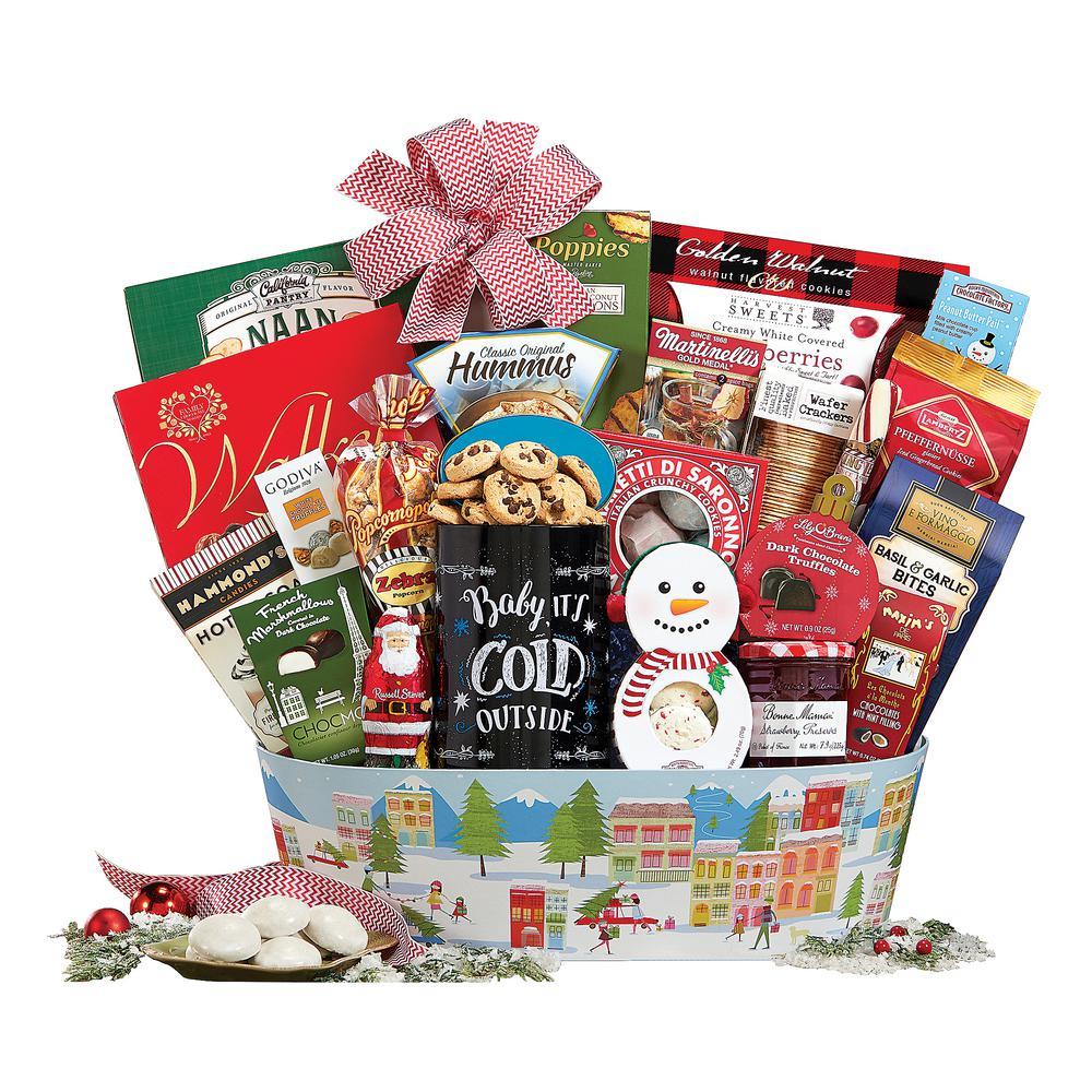Christmas Baskets.Gourmet Christmas Treats Food Gift Basket