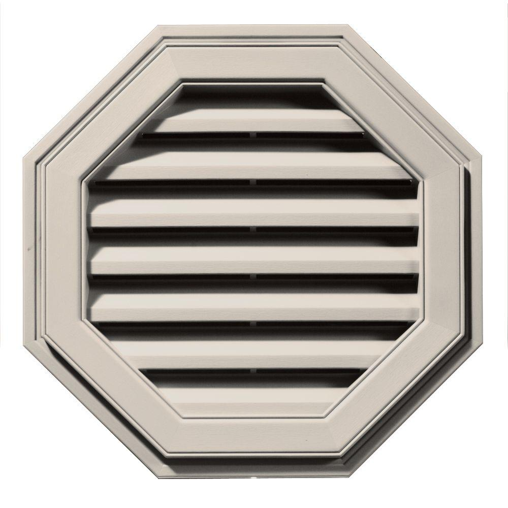 Builders Edge 22 in. Octagon Gable Vent in Almond
