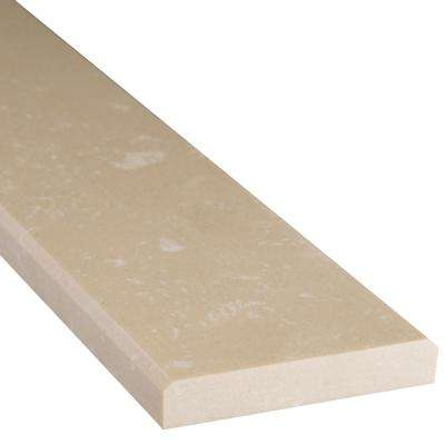 Beige Double Bevelled 2 in. x 36 in. Engineered Marble Threshold Floor and Wall Tile