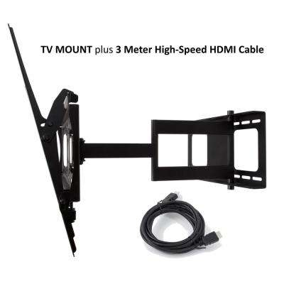 Swift Mount Multi Position TV Wall Mount for 37 in. to 80 in. TV's and 9.75 ft. Super-High Speed 4K HDMI Cable