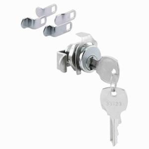 Mailbox Lock, 5 Cam, Nickle Finish, National Keyway, Opens Counter-Clockwise, 90 Degree Rotation