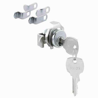 National Keyway Nickel Mailbox Lock 5 Cam Opens Counter-Clockwise 90 Deg. Rotation