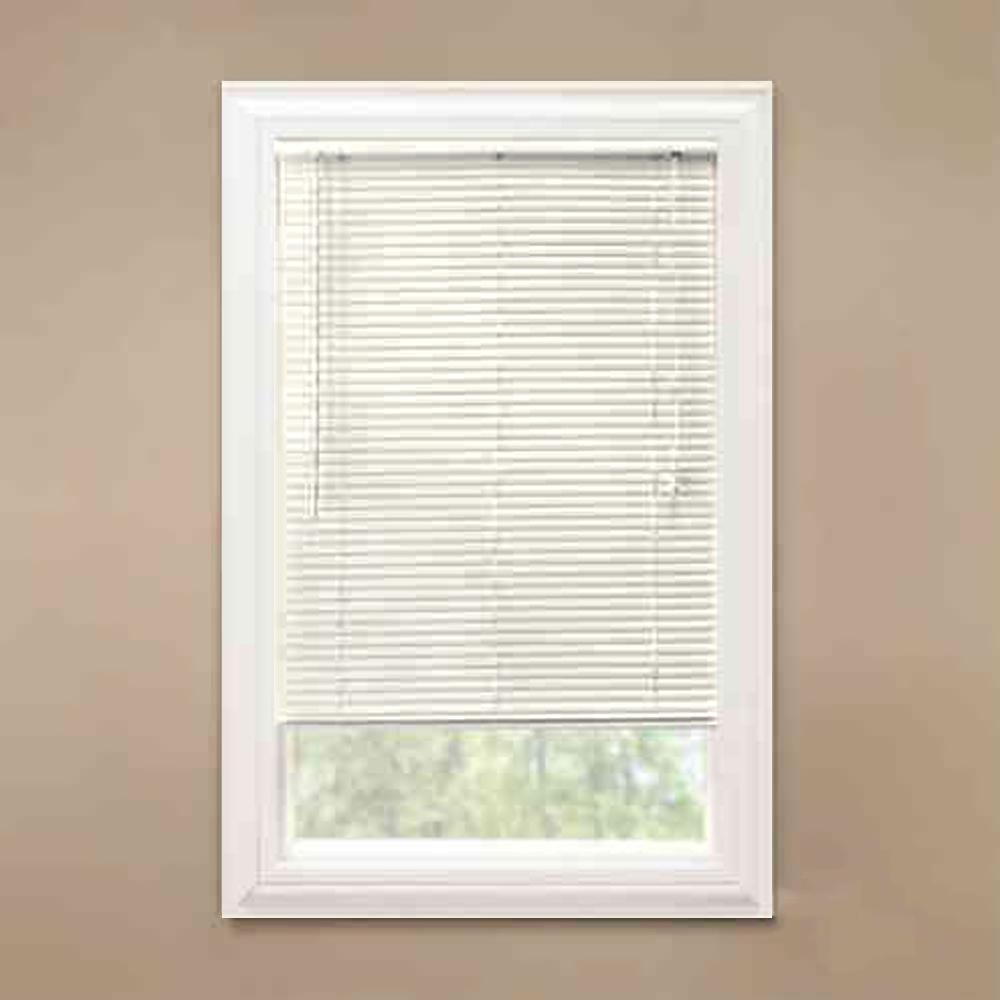 Alabaster 1 in. Room Darkening Vinyl Mini Blind - 58 in.