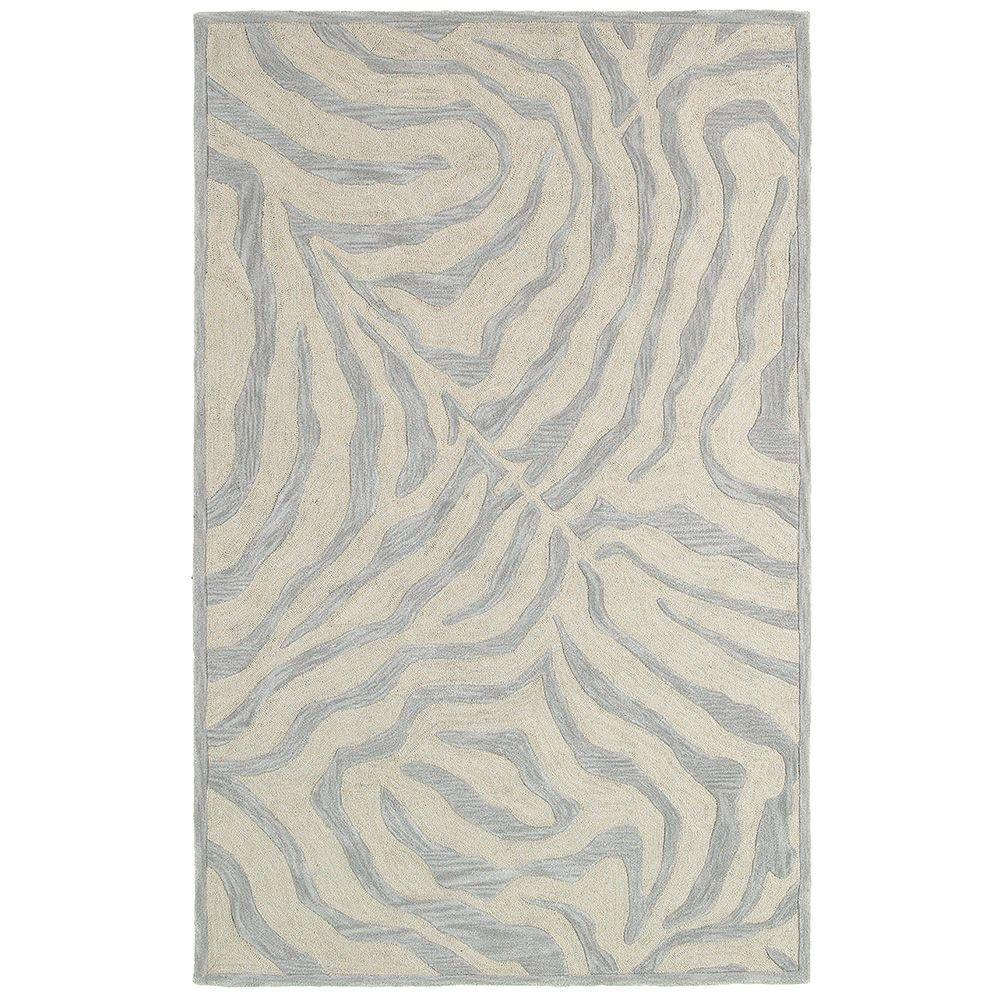 LR Resources Fashion Taupe and Silver 5 ft. x 7 ft. 9 in. Luxurious Indoor Area Rug