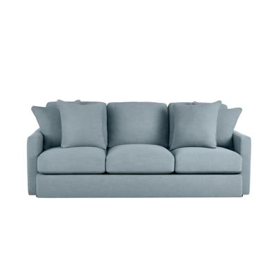 Rutherford Cambric Aloe Teal Straight Standard Sofa for 3 (86.5 in. W x 35 in. H)