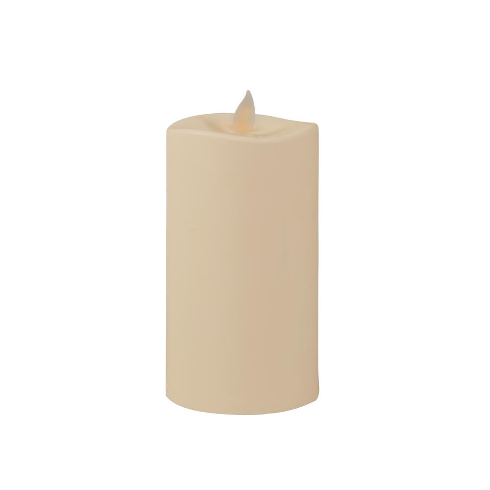 3 in. Bisque Fresh Air Ionizing Motion Flame LED Candle