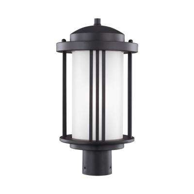 Crowell 1-Light Black Post Lantern
