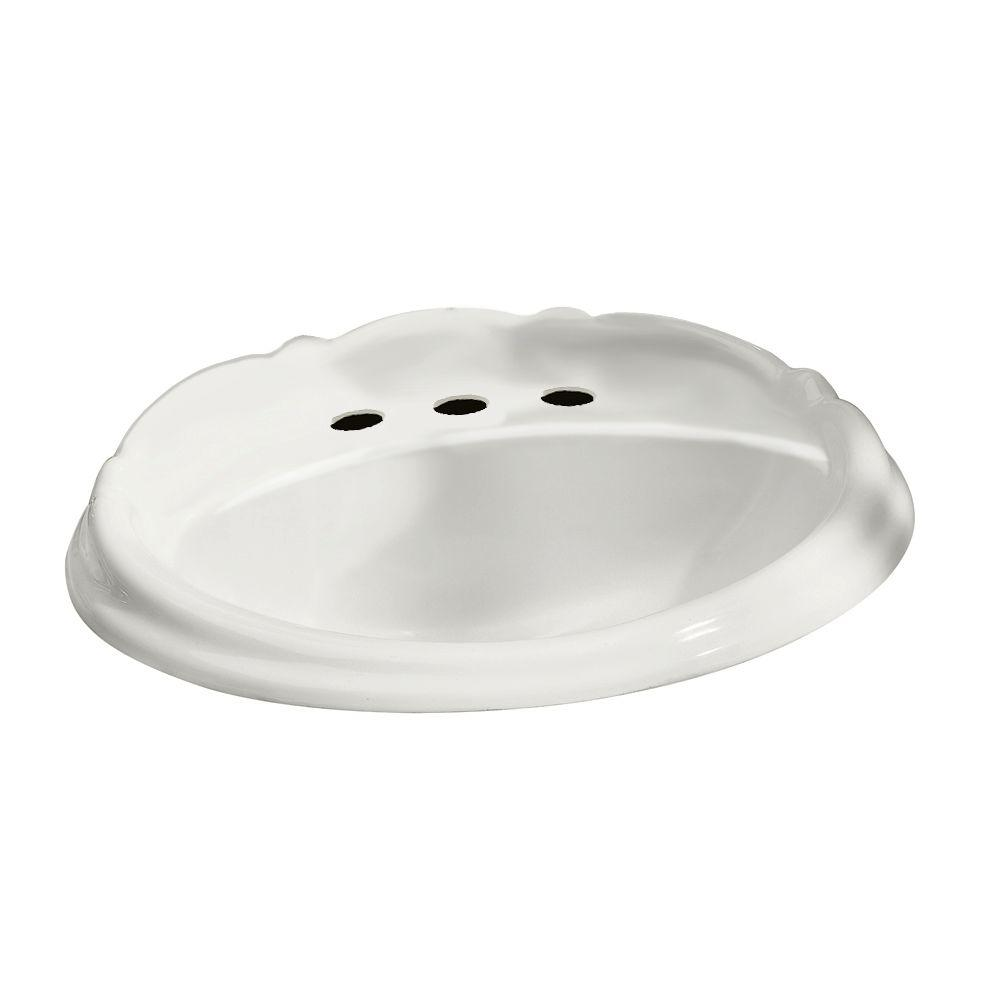 American Standard Reminiscence Self-Rimming Bathroom Sink in White ...