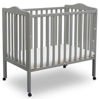 Portable Folding Crib Grey with Mattress