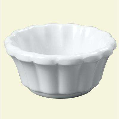 2.4 oz. Melamine Scalloped Ramekin in White (Case of 48)