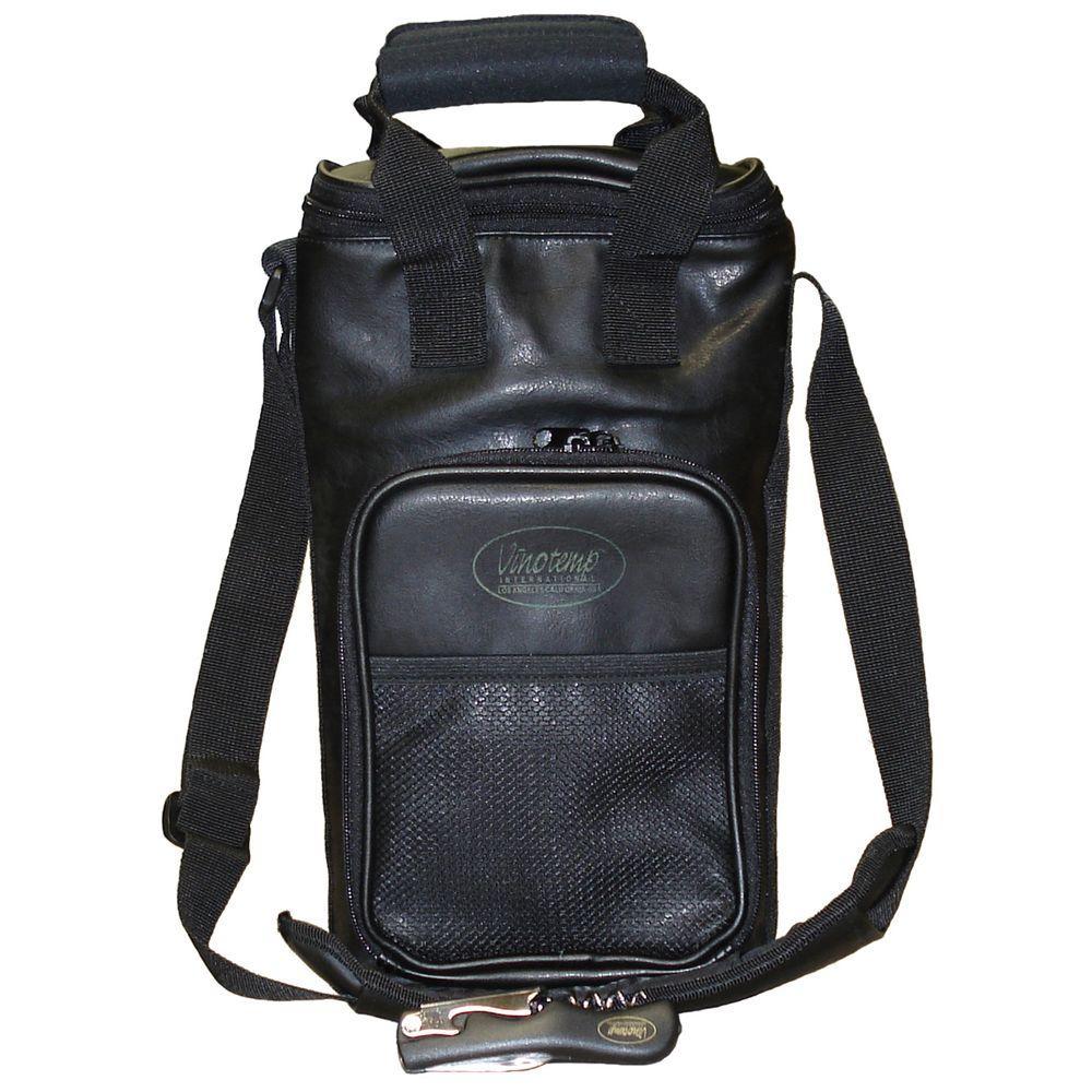 2 Bottle Faux Leather Wine Carrier Bag