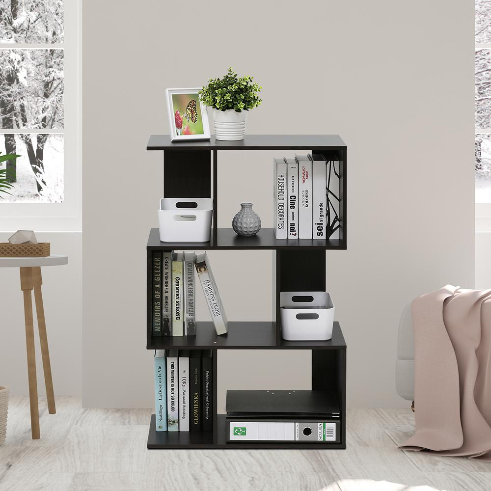 Simply Modern Espresso 3 Tier Open Bookshelf. Modern   Bookcase   Wood   Bookcases   Home Office Furniture   The