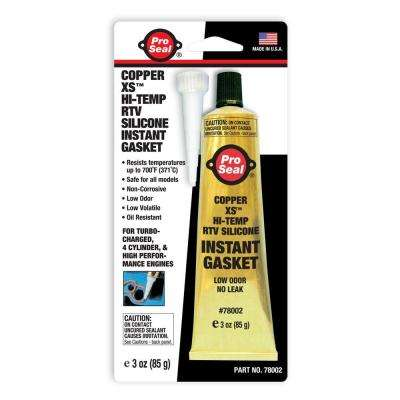 3 oz. Copper XS Hi-Temp RTV Silicone Instant Gasket (12-Pack)