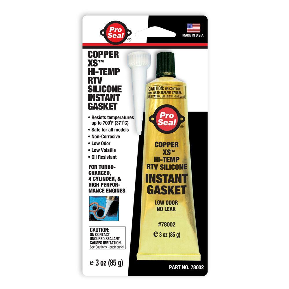 Proseal 3 oz. Copper XS Hi-Temp RTV Silicone Instant Gask...