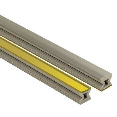 Dilex-EZ Grey with Brass Inlay 1/4 in. x 8 ft. 2-1/2 in. PVC Movement Joint Tile Edging Trim
