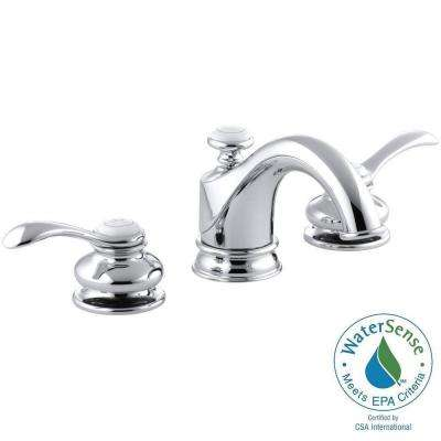 Fairfax 8 in. Widespread 2-Handle Low-Arc Water-Saving Bathroom Faucet in Polished Chrome with Lever Handles
