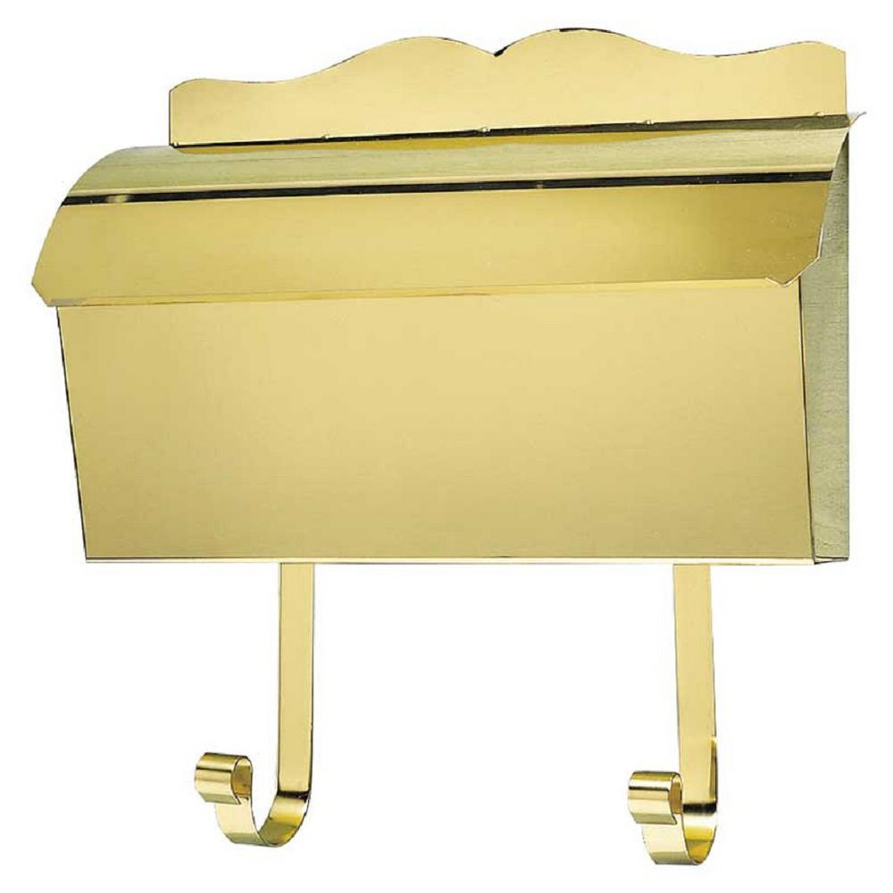 QualArc Polished Brass Wall Mount Non-Locking Mailbox-MB-900-PB ...