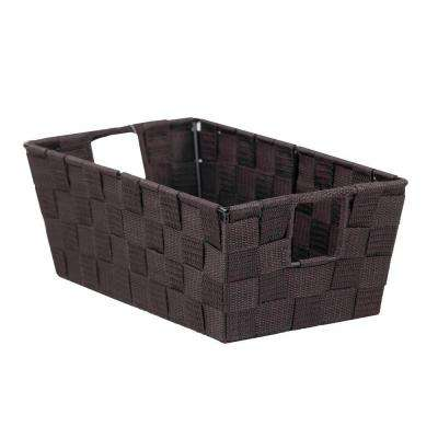 6.5 in. x 4.5 in. Brown Non Stackable Strap Bin