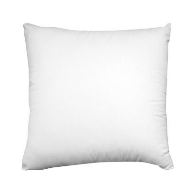 White Solid Down Alternative 20 in. x 20 in. Throw Pillow (Set of 2)