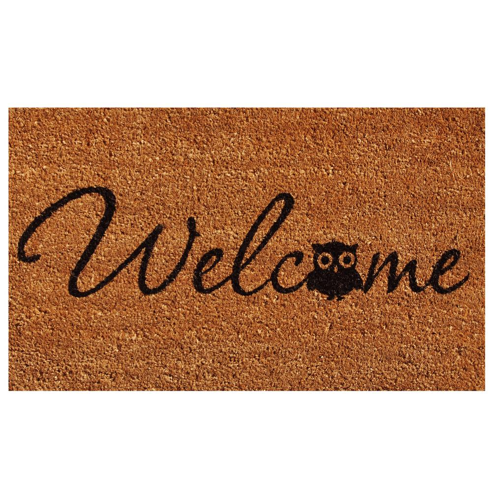 Barn Owl Welcome Door Mat 17 in. x 29 in.