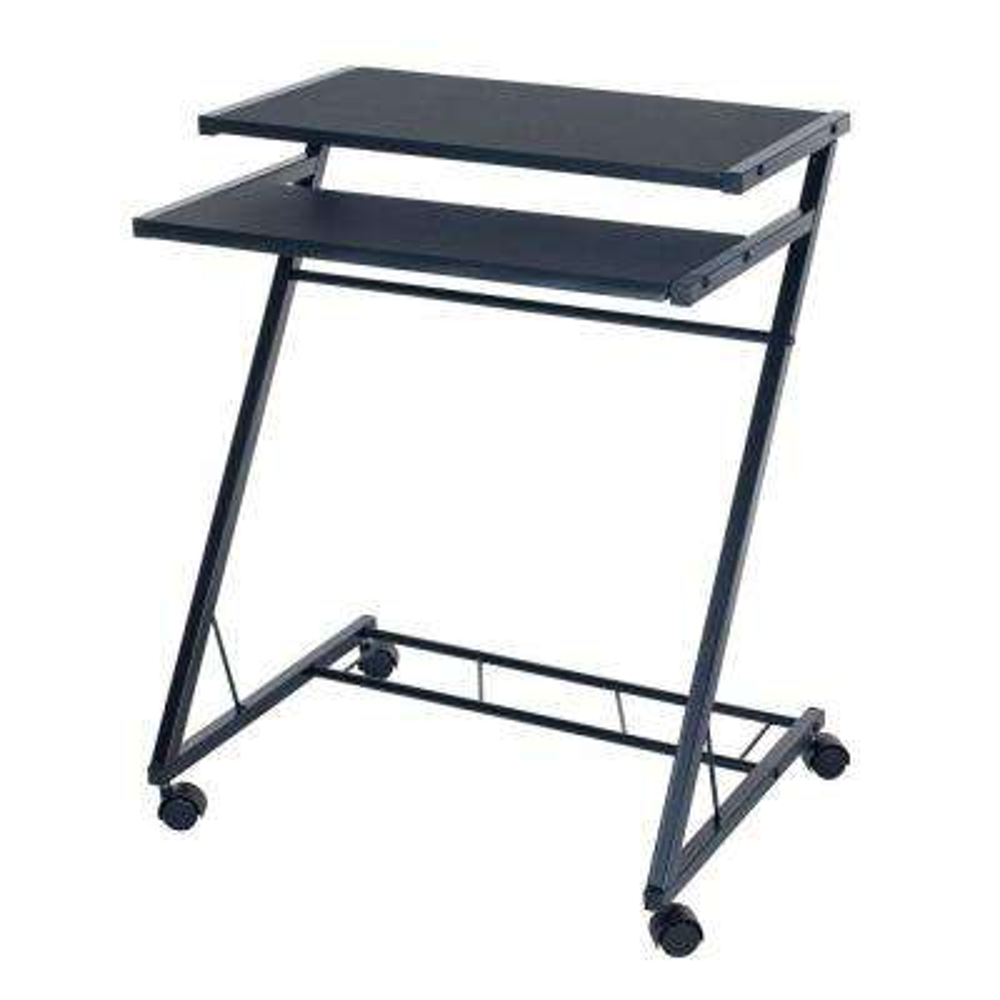 Black Laptop Desk with Wheels