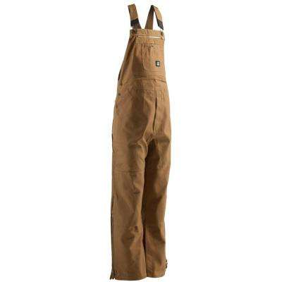 Men's 34 in. x 32 in. Brown Duck Unlined Bib Overall