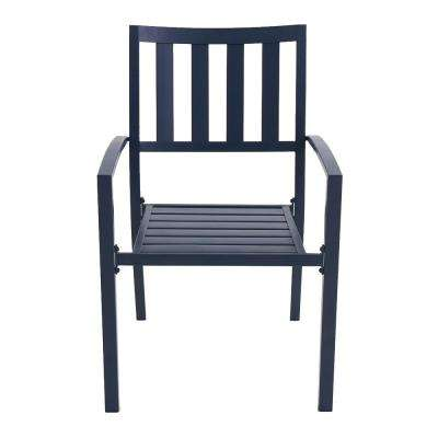 Mix and Match Mariner Metal Slat Outdoor Dining Chair (2-Pack)