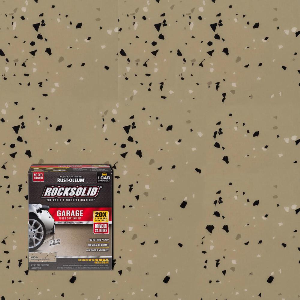 Rust Oleum Rocksolid 76 Oz Mocha 1 Car Garage Floor Kit