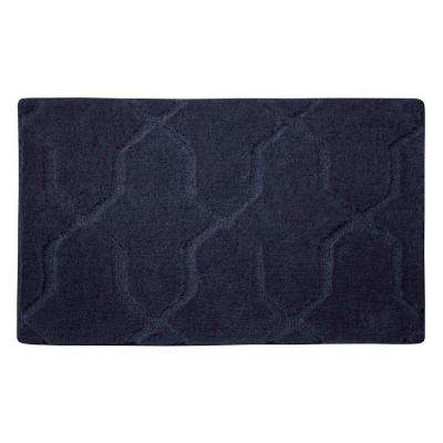 Pearl Drona Lake Blue 20 in. x 32 in. Bath Mat