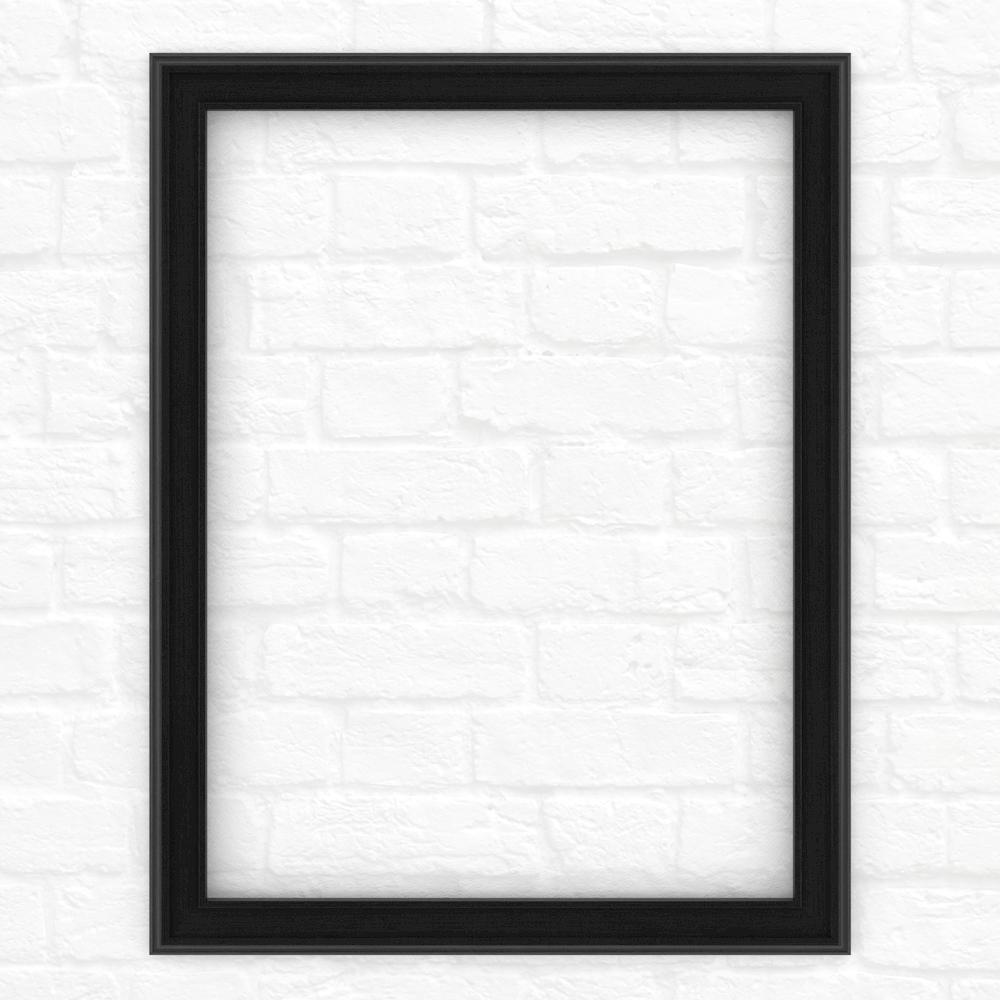 28 in. x 36 in. (M1) Rectangular Mirror Frame in Matte Black