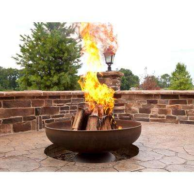 Patriot 48 in. x 21 in. Round Steel Wood Fire Pit