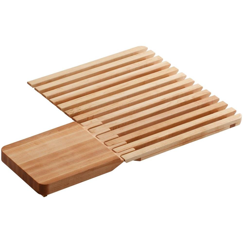 Kohler Epicurean 2 Piece Hardwood Cutting Board With Drain