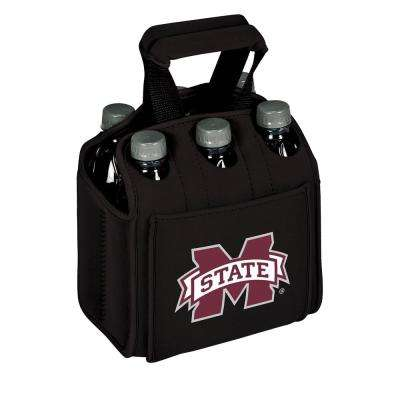 Mississippi State University Bulldogs 6-Bottles Black Beverage Carrier