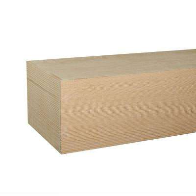 Douglas Fir Box Beam 5 ft. Cap-Shelf Mantel