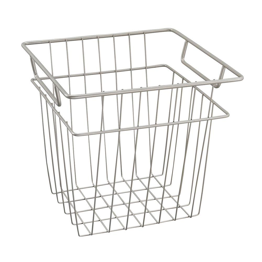 closetmaid 10 7 in  x 10 2 in  small wire basket in nickel