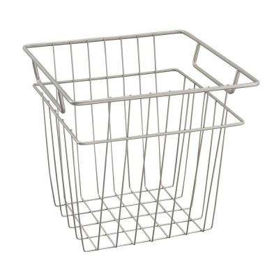 10.7 in. x 10.2 in. Small Wire Basket in Nickel