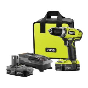 18-Volt ONE+ Lithium-Ion Cordless 1/2 in. Compact Drill/Driver Kit with (2) 1.3 Ah Batteries, (1) Charger, and Tool Bag