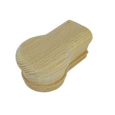 7019 Unfinished Red Oak Opening Cap Stair Handrail Fitting