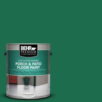 1 gal. #S-H-470 Precious Emerald Low-Lustre Porch and Patio Floor Paint