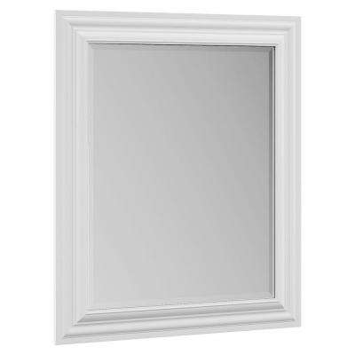 Cambridge 29 in. x 35 in. Single Framed Vanity Mirror in White