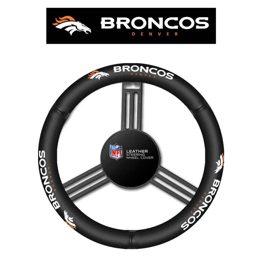 fremont die nfl denver broncos leather steering wheel cover - Nightmare Before Christmas Steering Wheel Cover