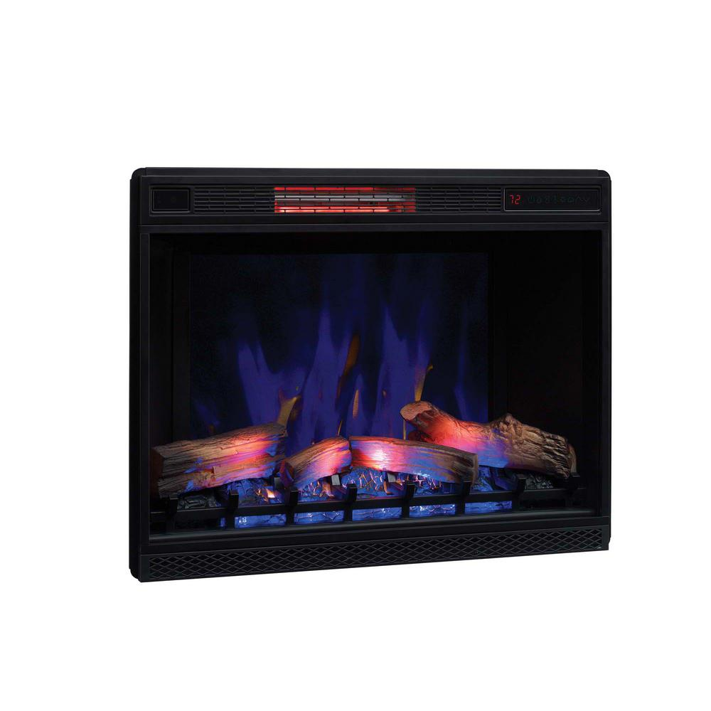 Classic Flame 26 in. Ventless Infrared Electric Fireplace Insert with Trim Kit