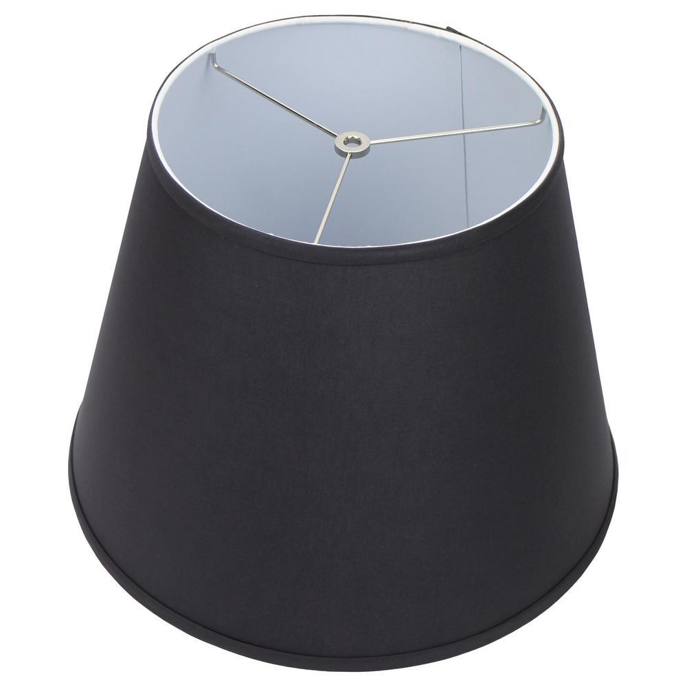 11 in. Top Diameter x 17 in. Bottom Diameter x 13 in. Slant Linen Charcoal Empire Lamp Shade