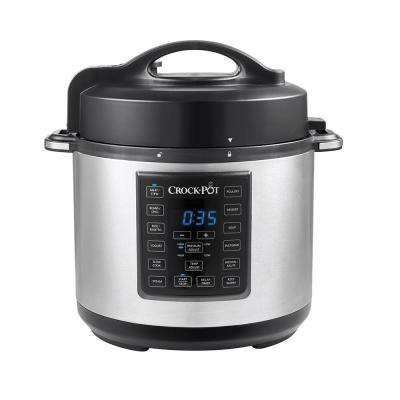 6 Qt. Express Crock Multi-Cooker in Stainless Steel
