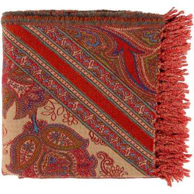 Boaz Bright Orange Throw